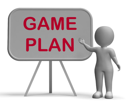 Game Plan Whiteboard Meaning Scheme Approach And Planning Reklamní fotografie