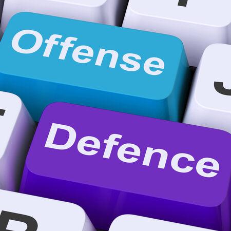 delito: Claves de Defensa Ofensa Mostrando atacar o defender