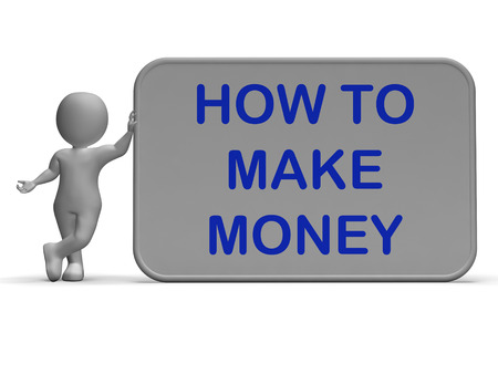 financially: How To Make Money Sign Meaning Prosper And Generate Income