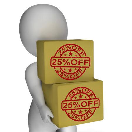markdown: Twenty Five Percent Off Boxes Show 25  Price Markdown