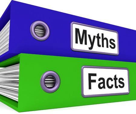 事実と虚偽の情報を意味神話事実フォルダー