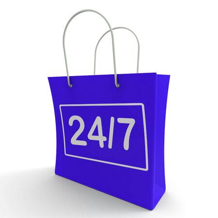 24x7: Twenty Four Seven Shopping Bag Showing Open 247