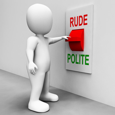 Rude Polite Switch Meaning Good Bad Manners photo