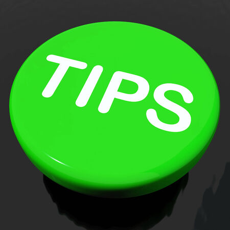 suggestions: Tips Button Showing Help Suggestions Or Instructions