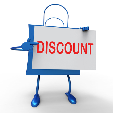 markdown: Discount Bag Showing Markdown Products and Bargains