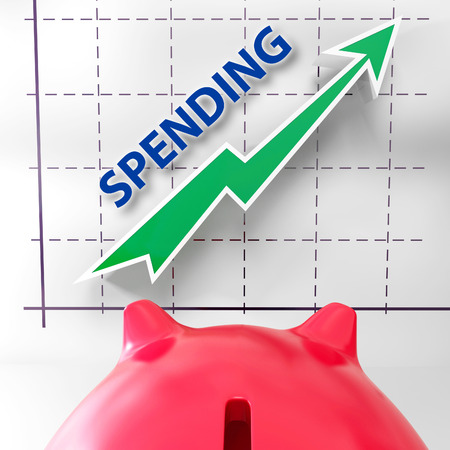 outgoings: Spending Graph Meaning Rise In Outgoings And Costs