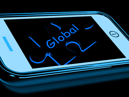 everywhere: Global Smartphone Meaning Worldwide Everywhere And International