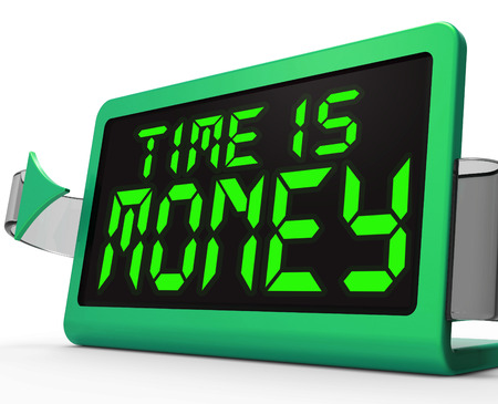 Time Is Money Clock Showing Valuable And Important Resource photo
