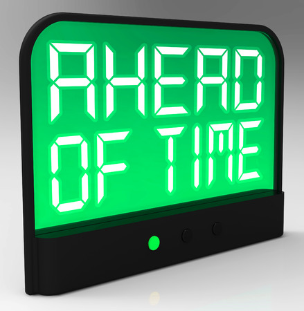 expected: Ahead Of Time Clock Showing Earlier Than Expected Stock Photo