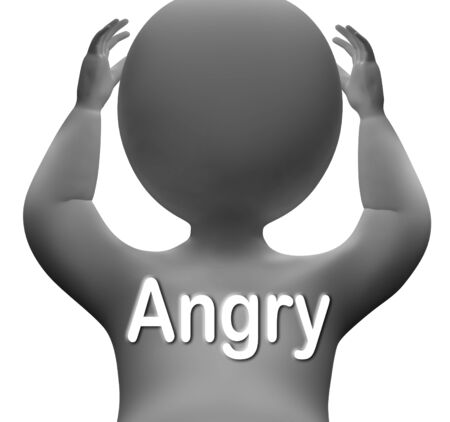 outraged: Angry Character Meaning Mad Outraged Or Furious