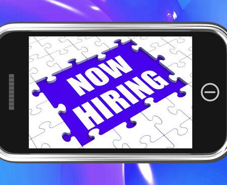 job opening: Ahora Empleando Tablet Mostrando Apertura de empleos y de Empleados