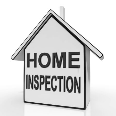 Home Inspection House Meaning Assessing And Inspecting Property Banco de Imagens