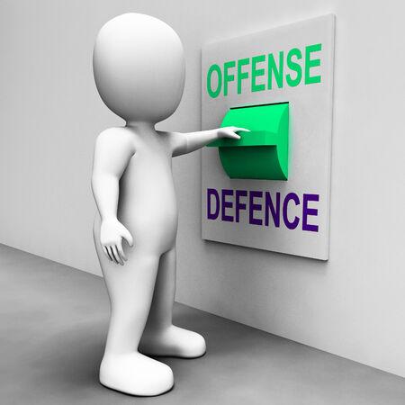 delito: Interruptor de Defensa Ofensa Mostrando atacar o defender