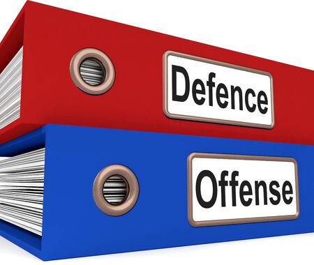 delito: Carpetas Defensa Ofensa Significado Proteger y atacar