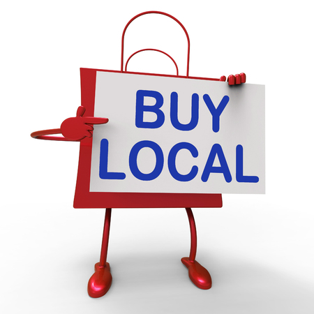 locally: Buy Local Bag Showing Buying Products Locally