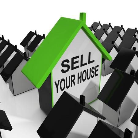 あなたの家の家意味マーケティング特性を販売します。 写真素材