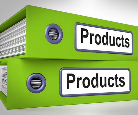 Products Folders Meaning Goods And Merchandise For Sale Stock Photo - 26415730