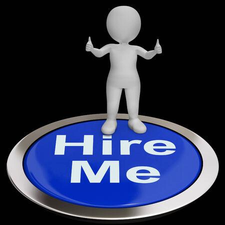 freiberufler: Stellen Sie mich Knopf, der Job Applicaticant Oder Freelancer Lizenzfreie Bilder