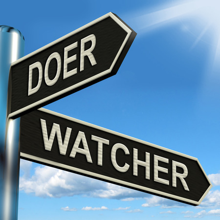 watcher: Doer Watcher Signpost Meaning Active Or Observer