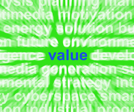 Value Word Showing Quality Worth And Customer Satisfaction photo