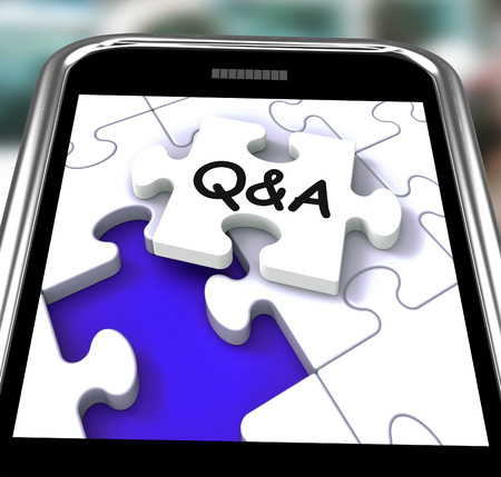Q&A Smartphone Showing  Questions Answers And Assistance photo