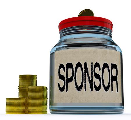sponsor: Sponsor Jar Showing Sponsorship Benefactor And Giving