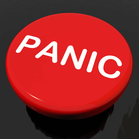 panicky: Panic Button Showing Anxiety Panicking Distress