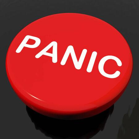 panicking: Panic Button Showing Anxiety Panicking Distress