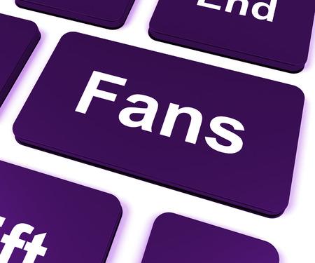 follower: Fans Key Showing Follower Or Internet Fan