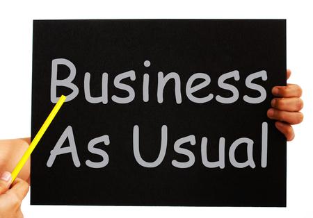 par�?s: Business As Usual Rutina Significado Pizarra Y Normalidad Foto de archivo