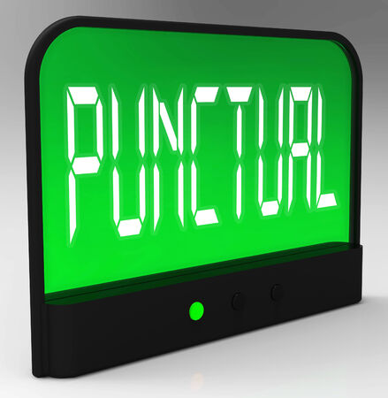 punctual: Punctual Clock Showing Timely And On Schedule Stock Photo