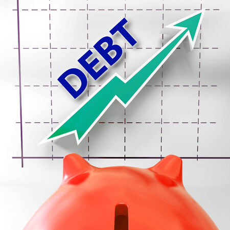 Debt Graph Meaning Money Due And Liabilities