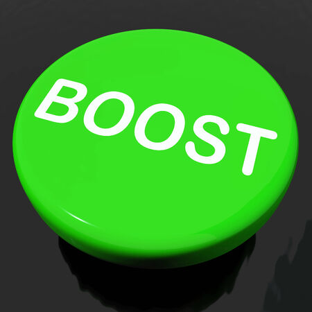 Boost Button Showing Promote Increase Encourage