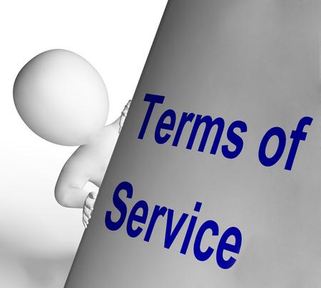 서비스 약관은 사용자와 공급자 계약을 표시 서명 스톡 콘텐츠