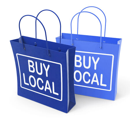 locally: Buy Local Bags Promoting Buying Products Locally