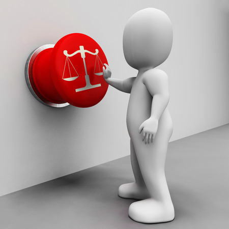 conviction: Scales Of Justice Button Meaning Court And Conviction