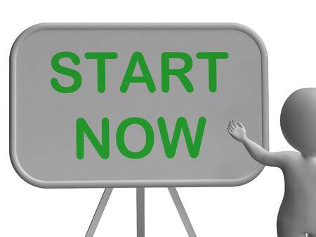 incominciare: Inizia ora Whiteboard Significato Inizia oggi e subito