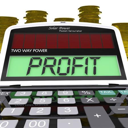 proceeds: Calculadora de Ganancia Significado Excedente rentas e ingresos Foto de archivo