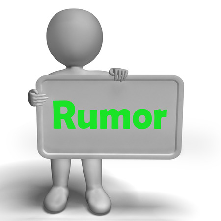 blabbing: Rumor Sign Meaning Spreading False Information And Gossip
