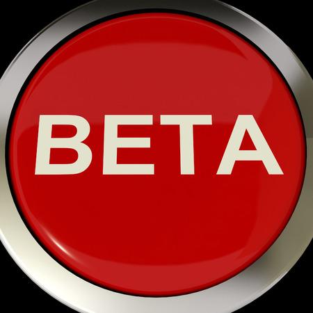 beta: Button Beta Mostro di sviluppo o Demo Version