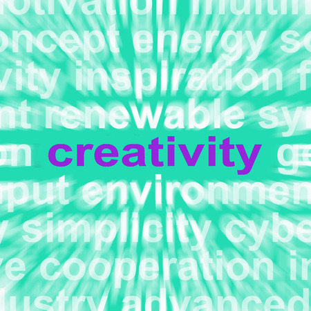 Creativity Word Showing Originality, Innovation And Imagination Stock Photo