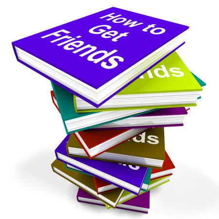 vida social: C�mo conseguir Amigos pila de libro Mostrando friendly Vida Social