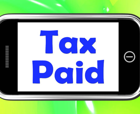 excise: Tax Paid On Phone Showing Duty Or Excise Payment Stock Photo