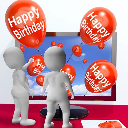 festividades: Globos del feliz cumplea�os Mostrando Fiestas y Invitaciones Online