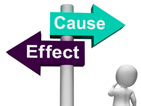 cause and effect: Cause Effect Signpost Meaning Consequence Action Or Reaction