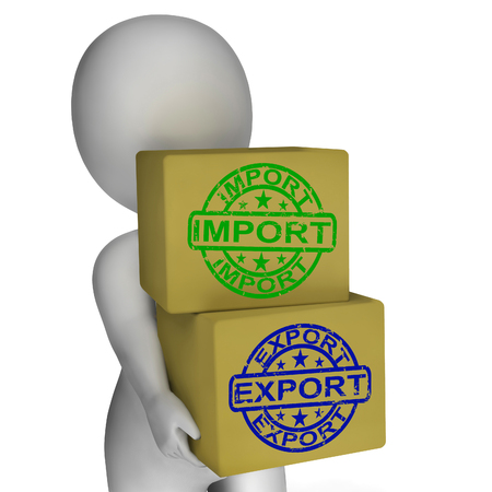 exported: Import Export Boxes Meaning Global Trade Importing And Exporting