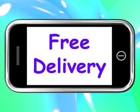 gratis: Free Delivery On Phone Showing No Charge Or Gratis Deliver