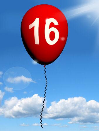 sweet sixteen: 16 Balloon Showing Sweet Sixteen Birthday Party