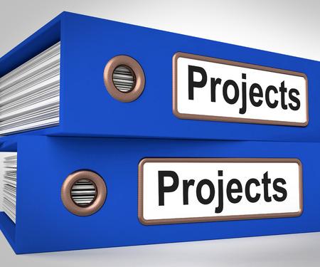 Progetti Cartelle Significato attività di pianificazione e Ventures Archivio Fotografico - 26961276