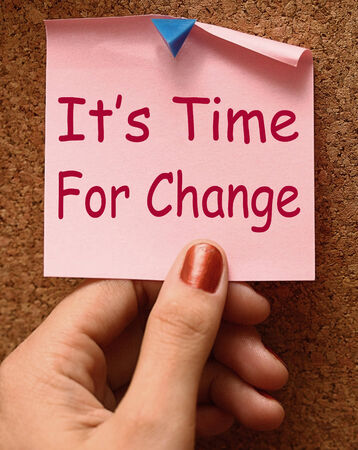 revise: Its Time For Change Note Means Revise Reset Or Transform